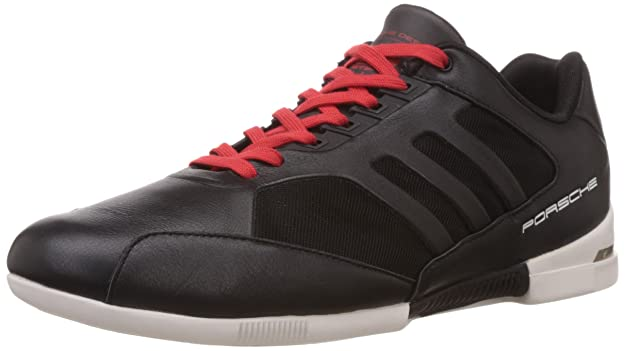 8dce53959505 ... adidas Originals Mens Porsche Turbo Core Black and Red Sneakers - 10 UK  Buy Online at .