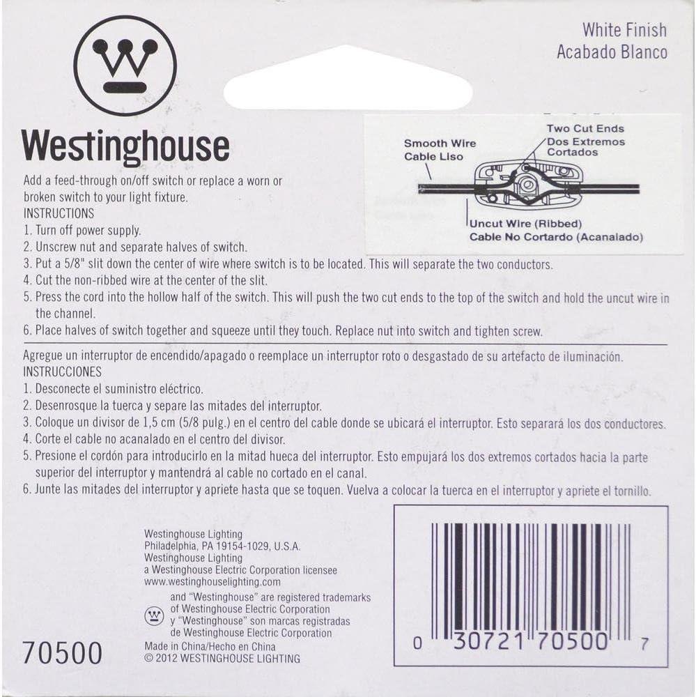 Westinghouse Lighting 70500 Lighting Feed-Through Switch