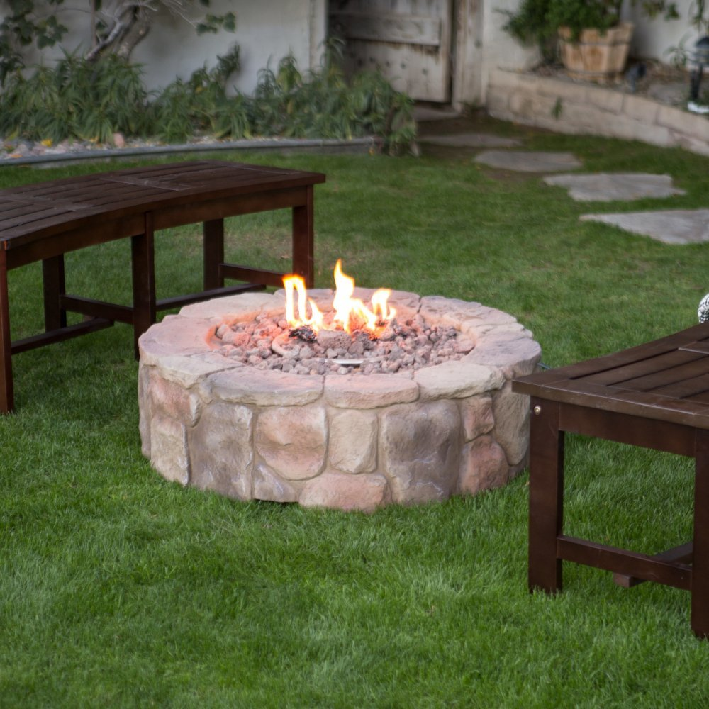 1. Red Ember 36 in. Clarksville Propane Campfire Fire Pit
