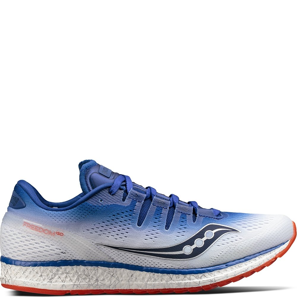 Saucony Men's Freedom ISO Running Shoe B01NGYSD2O 11 D(M) US|Blue | White