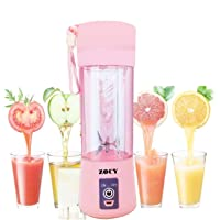 ZOCYE Portable Blender Ice Smoothie Blender Shakes Personal Blender USB Rechargeable Small Juicer Travel Cup
