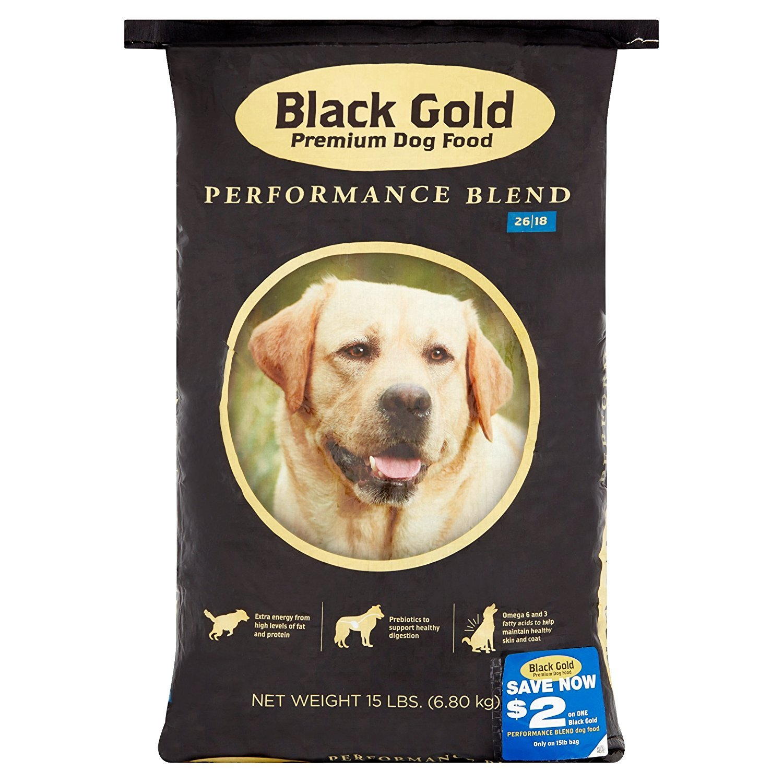 Black gold Pet Foods Premium Performance, 26 18, 15 lbs (1)