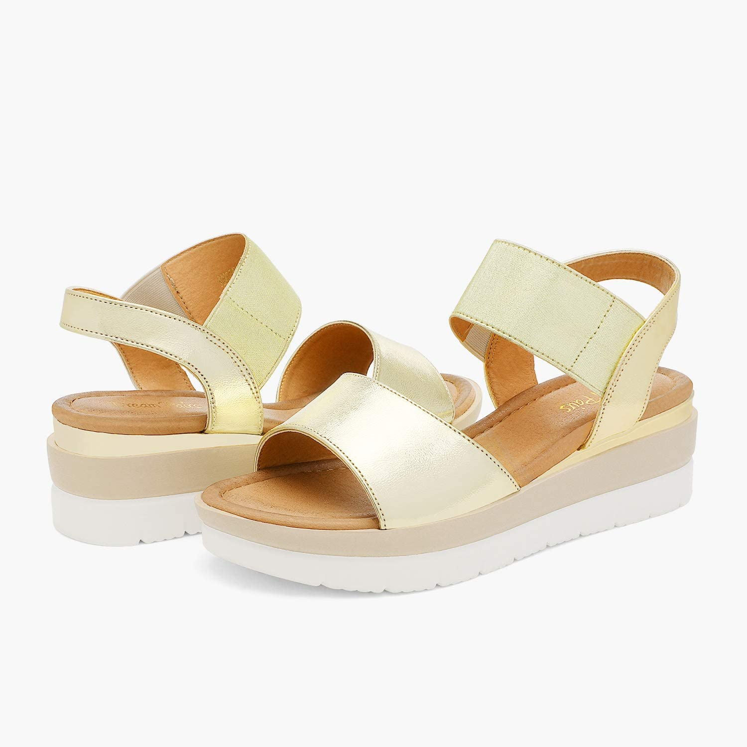 DREAM PAIRS Womens Open Toe Ankle Strap Platform Wedge Sandals