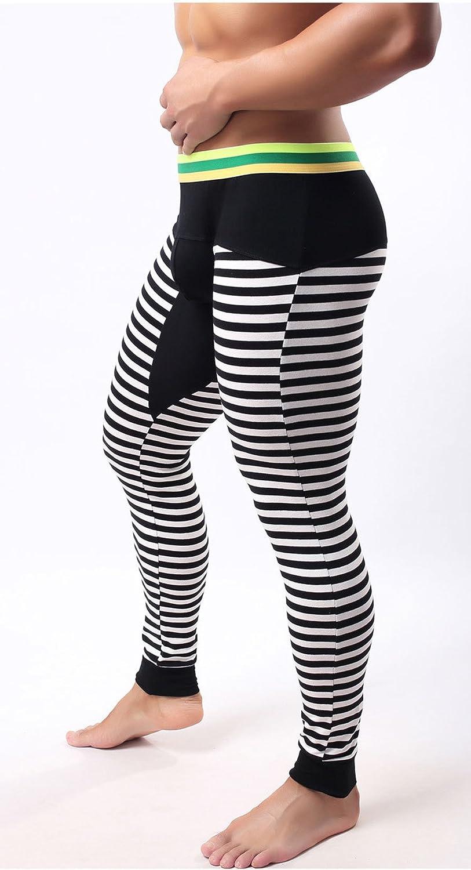 GuPoBoU168 Mens Casual Cotton Stripe Warm Pants