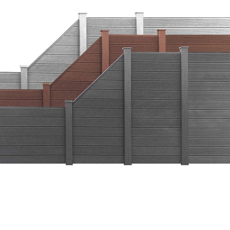 Hori Wpc Garten Zaun I Lamellenzaun Sichtschutz Komplettset I