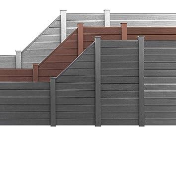 Gut bekannt HORI® WPC Garten Zaun I Lamellenzaun, Sichtschutz Komplettset I SS15