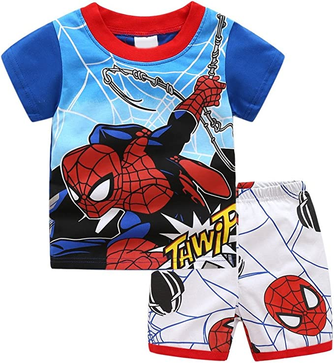 Meteora Little Boys Summer Pajamas Set 100/% Cotton