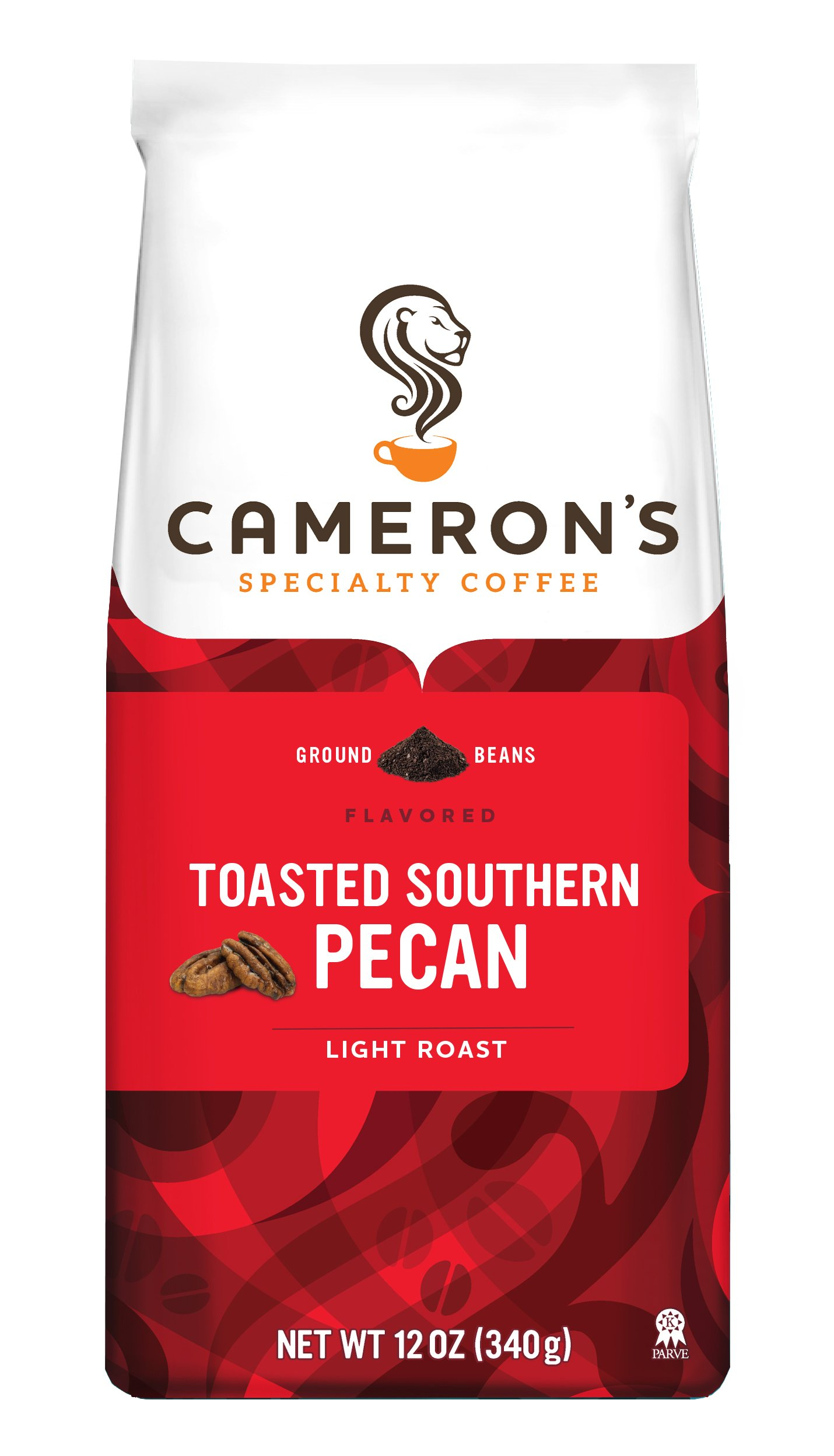 Cameron's Specialty Coffee, Toasted Southern Pecan, 12 Ounce, Ground Coffee, Bag