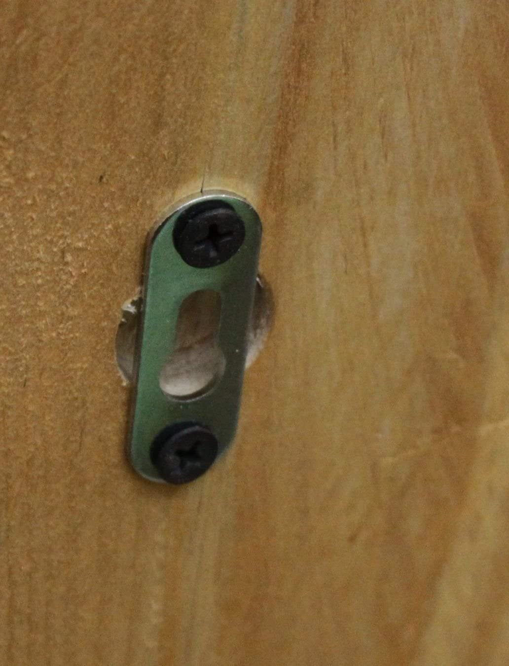 Dekorie Holz Gew/ürzregal mit Metall Haken braun Shabby Vintage fertig montiert