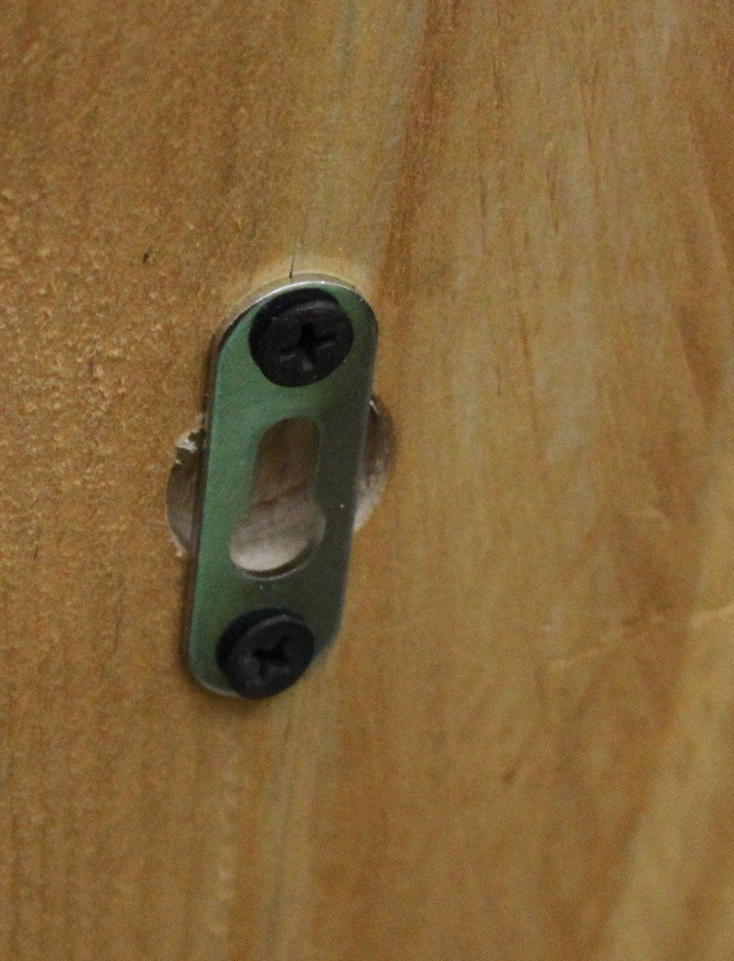 Holz Handtuchregal h/ängend natur ge/ölt fertig montiert