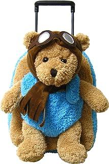 dc7cd0f922 Kreative Kids Adorable Aviator Pilot Bear Rolling Backpack w Removable Stuffed  Toy   Wheels