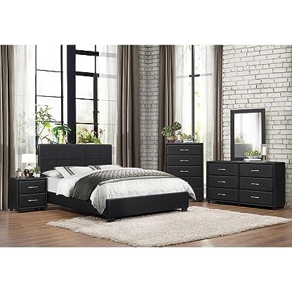 Amazon.com: HEFX Lancaster 5 Piece Cal King Bedroom Set in ...