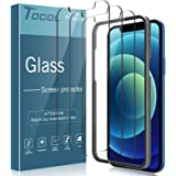 TOCOL 3 Pack Compatible with iPhone 12 and iPhone 12 Pro Screen Protector 6.1 inch - Military Grade Shatterproof Premium Temp