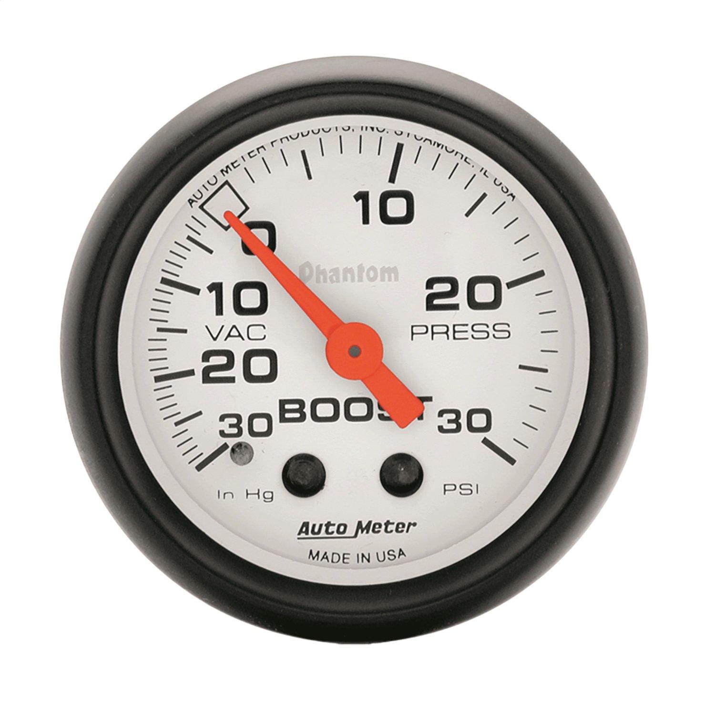 Auto Meter 5703 Phantom Mechanical Boost/Vacuum Gauge by AUTO METER