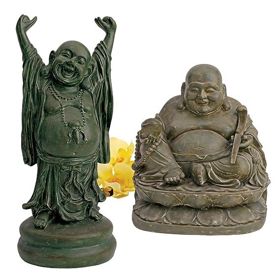 Design Toscano Jolly Hotei Laughing Buddha Asian Decor Garden Statue 63.5 cm...