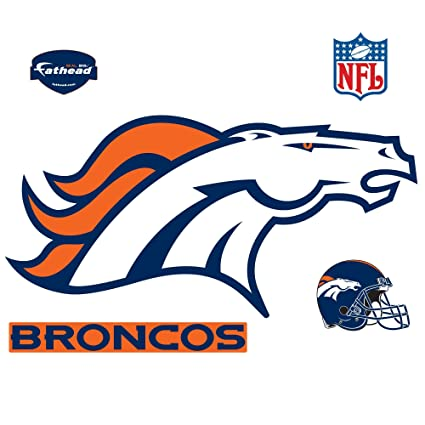 c5ee03e6 Image Unavailable. Image not available for. Color: Fathead NFL Denver  Broncos Denver Broncos: Logo - Giant Officially Licensed NFL Removable Wall  Decal