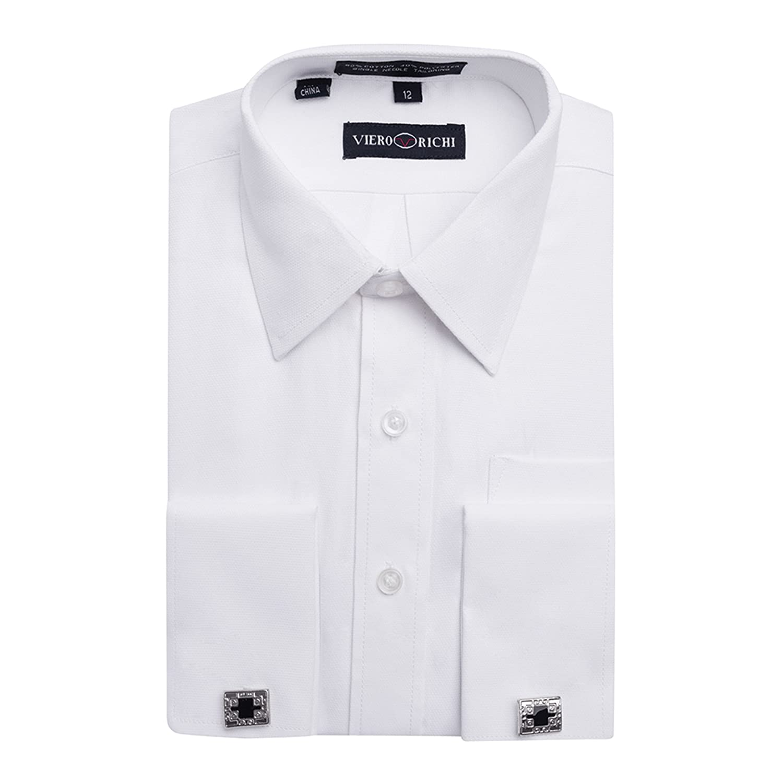 Boys 4-20 French Cuff Dress Shirt Regular & Husky Sizes (Cufflinks Included) 7701