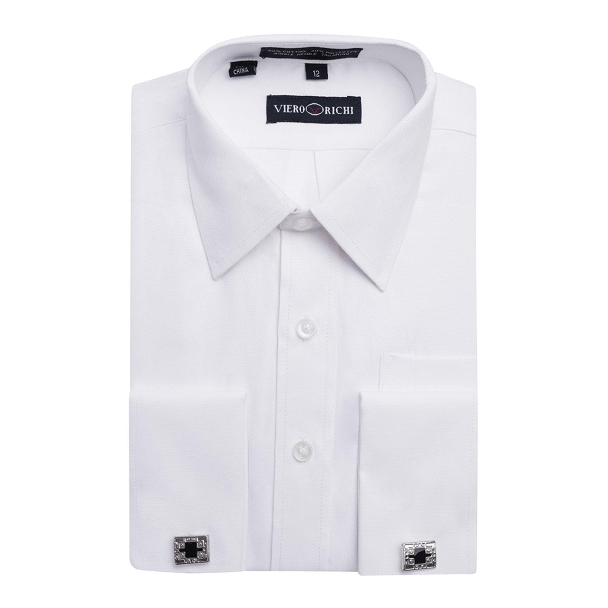 Viero Richi Boys 8-20 French Cuff Dress Shirt (Cufflinks Included) Size 12 by Viero Richi