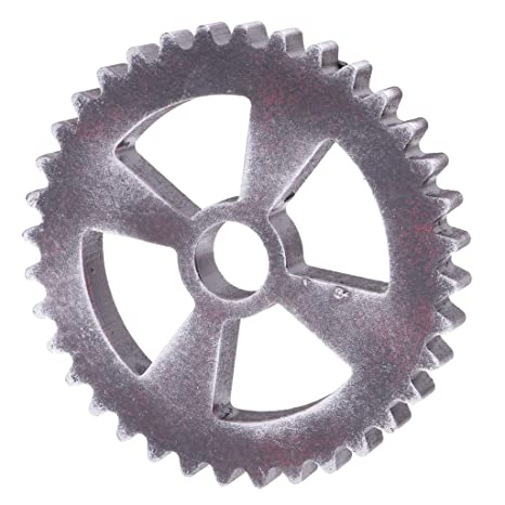 12cm Industrial Wood Wooden Gear Home Bar Cafe Wall Hanging Decoration #C