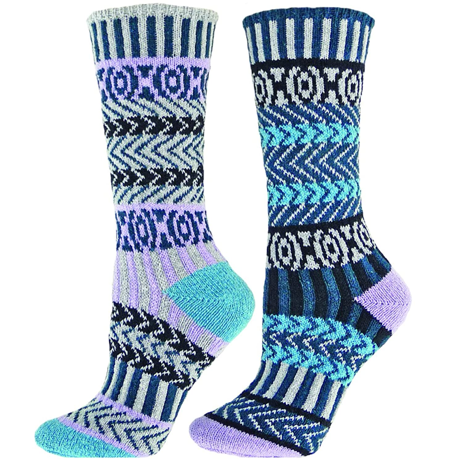 Qt feet Mismatch Squiggle Crew Recycled Cotton