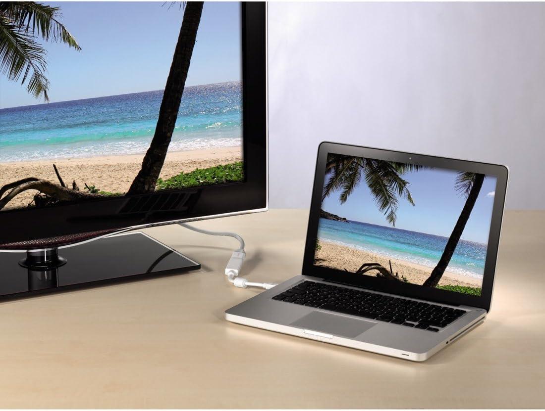 Hama 00053220 adaptador de cable de v/ídeo 1,5 m HDMI Mini DisplayPort Gris Adaptadores de cable de v/ídeo Blanco 1,5 m, HDMI, Mini DisplayPort, Oro, Gris, Blanco, 10,2 Gbit//s