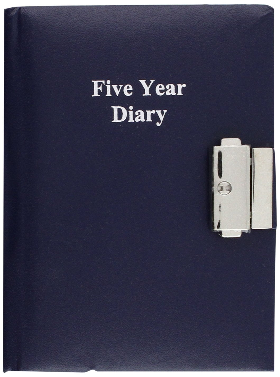 5 Year Undated Lockable Diary - Black Size: A6 - 4.13 by 5.83 inches