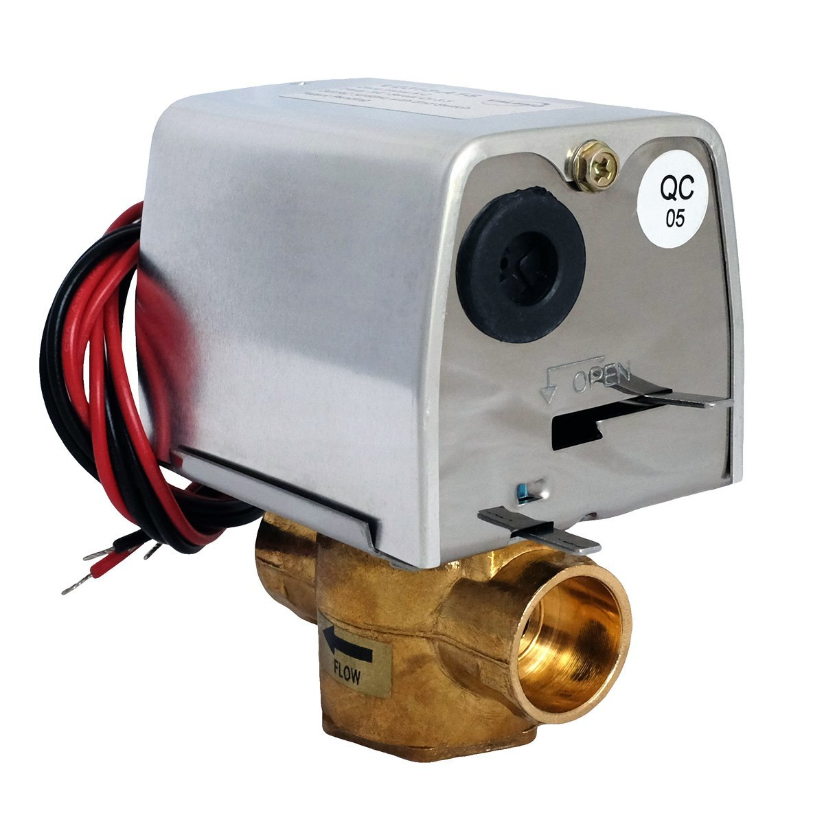 Valemo V2313-A1S Motorized Zone Valve, 2-way 3/4'', Sweat, 24 VAC with End Switch by Valemo Controls (Image #2)