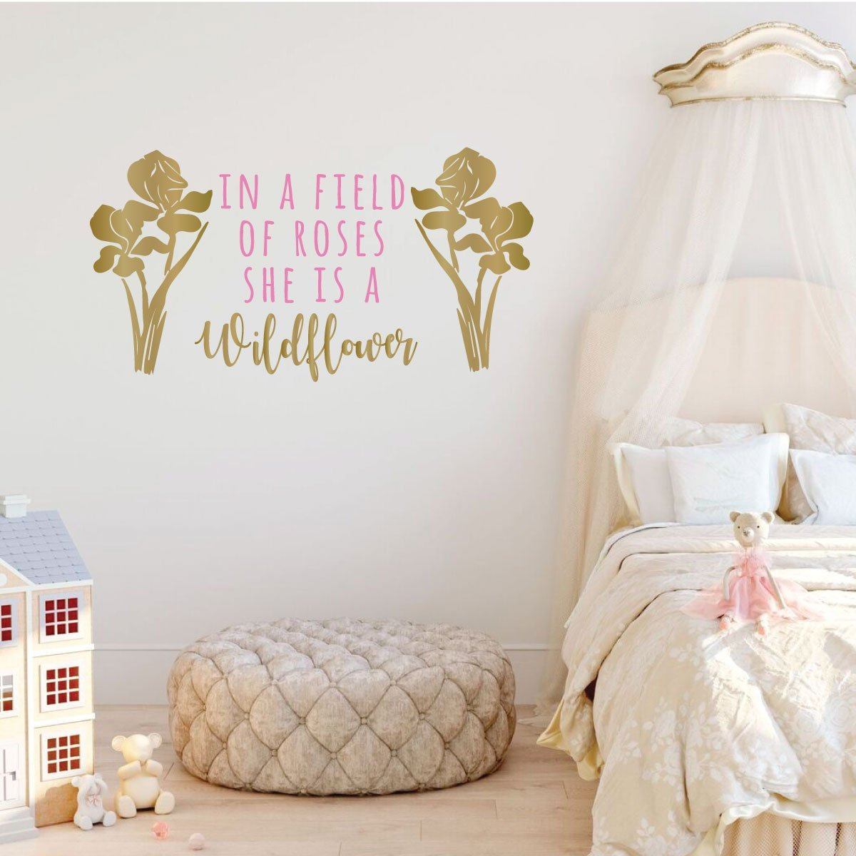 In a Field of Roses Home Decor v2 Vinyl Decal Wall Art Decor Sticker