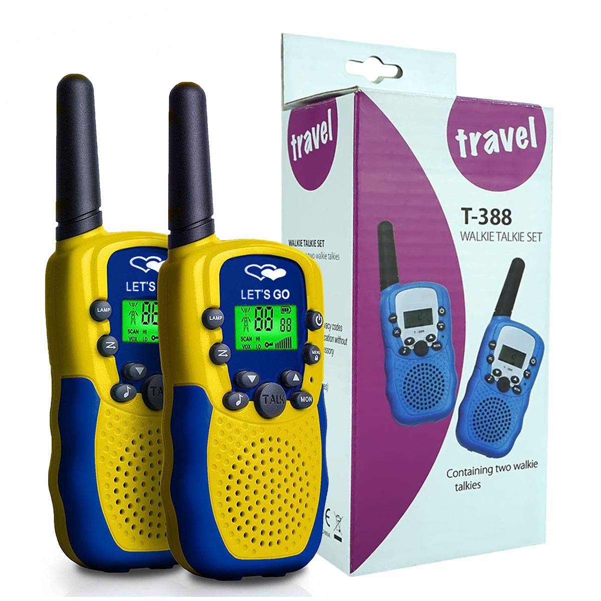 Easony Outdoor Toys for 3-12 Year Old Boys, Long Range Walkie Talkies 3-12 Year Old Girl Hunting Toys 3-12 Year Old Girl Birthday Presents Gifts for 3-12 Year Old Boys Yellow Blue ESUSAD09