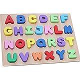 WONZOM 積み木 パズル アルファベット 知育 玩具 幼児 子供 教育 教材 木のおもちゃ ブロック パズル 木製 はめこみ