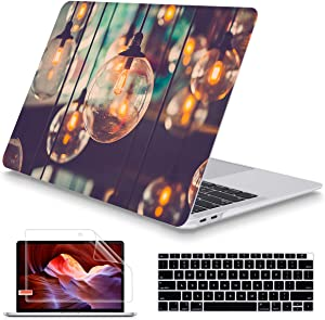 May Chen MacBook Air 13 Inch Case 2020 2019 2018 Release New Verstion A1932 A2179, Frosted Rubberized Soft Touch Hard Case Shell Cover for MacBook Air 13 Retina Fits Touch ID, Llight Lamp Decor