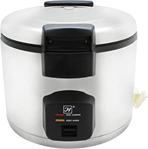 Thunder Group 33 cups rice cooker / warmer, stainless steel exterior, comes in each