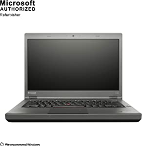 Lenovo ThinkPad T440P 14 Inch Business Laptop, Intel Core i5-4300M up to 3.3GHz, 4G DDR3L, 500G, DVD, WiFi, VGA, MDP, Win 10 Pro 64 Bit Multi-Language Support English/French/Spanish(Renewed)