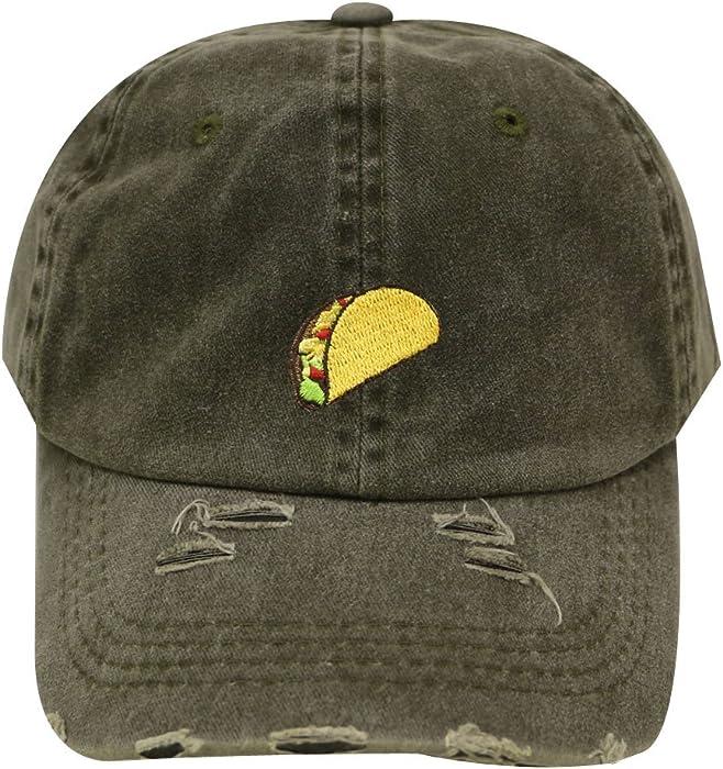 90ce5b4b City Hunter C104 Taco Emoji Cotton Baseball Cap Dad Hats 15 Colors (Vintage  Olive) at Amazon Men's Clothing store: