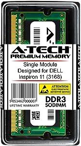 A-Tech 4GB RAM for DELL Inspiron 11 3168 | DDR3/DDR3L 1600 SODIMM PC3-12800/PC3L-12800 1.35V 204-Pin Memory Upgrade Module