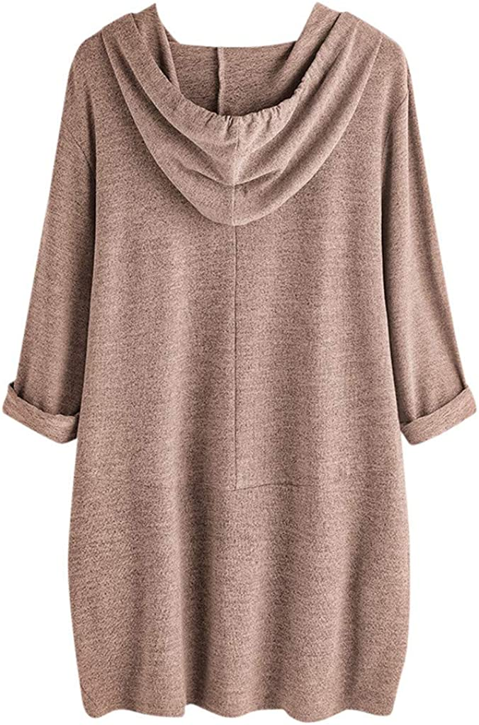 Tops Womens Hooded Blouse Girls Casual Cartoon Print Short Sleeve Pockets T Shirt Tunic for Girls Teens