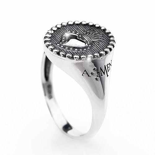 4634fbfdf7458a anello donna gioielli Amen Sacro Cuore misura 18 casual cod. ASC-18:  Amazon.it: Gioielli