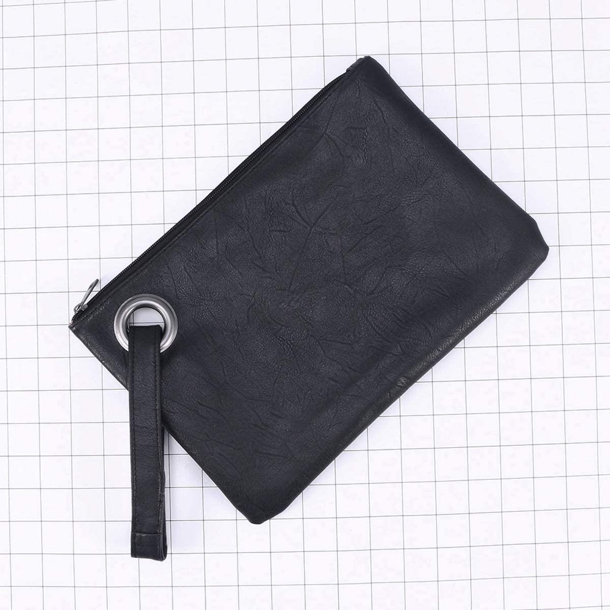 Simple Clutch Bags Retro Hand Bags Large Capacity Fashionable Handbags for Women Girl Black
