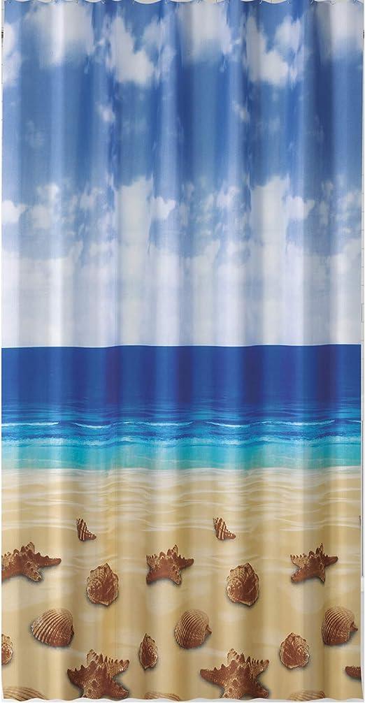 Ringe Textil Duschvorhang 120 x200cm Seesterne /& Muscheln am Strand Meer inkl