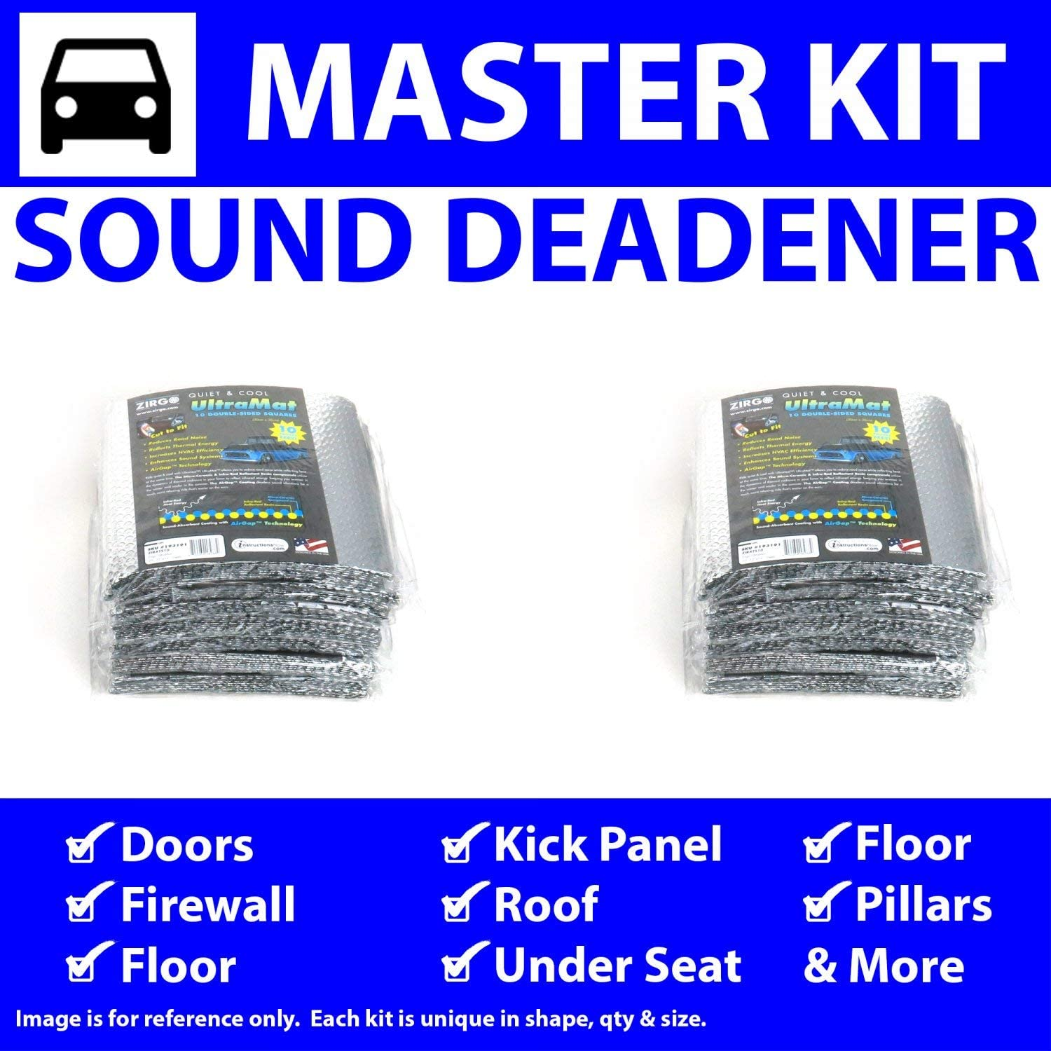 for 81-90 VW ~ Master Kit Zirgo 315107 Heat and Sound Deadener