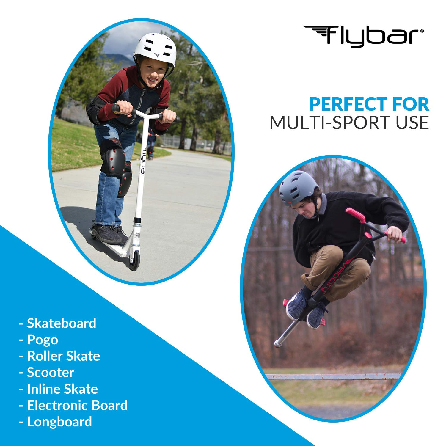 and Sports Activities Inline and Roller Skating Flybar Skateboard Helmet Multi-Sport Impact Protection for Youth and Adults for Bike Scooter Skateboarding BMX