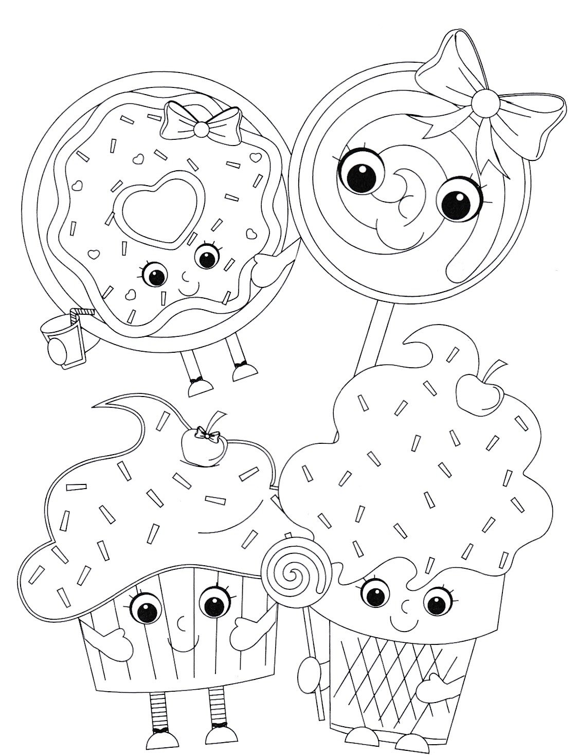 Valentines Emoticon Coloring Pages and Pencils, set of 48 pieces Party Favors by Custom Variety (Image #6)
