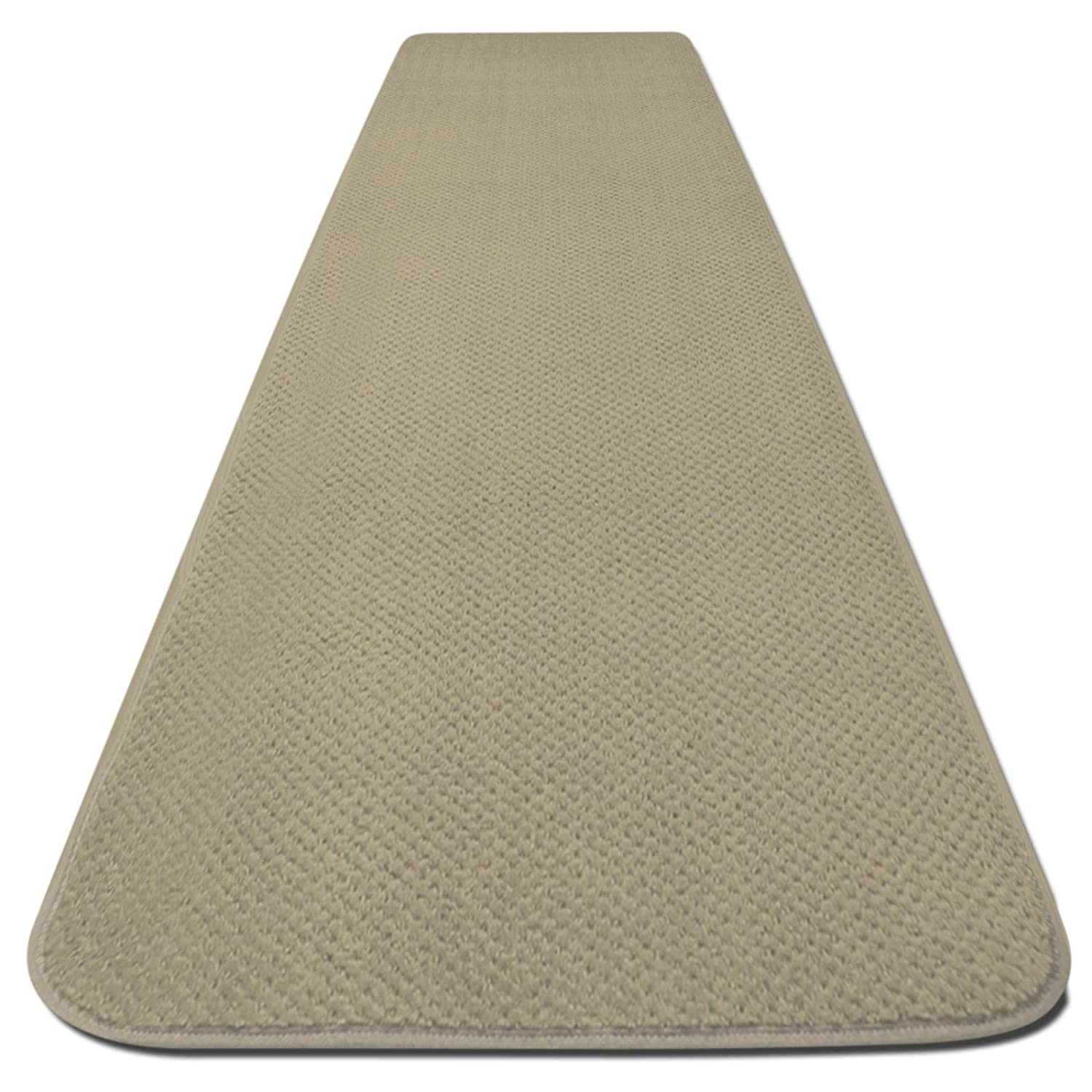 House, Home and More Skid-Resistant Carpet Runner - Ivory Cream - 6 Feet X 27 Inches