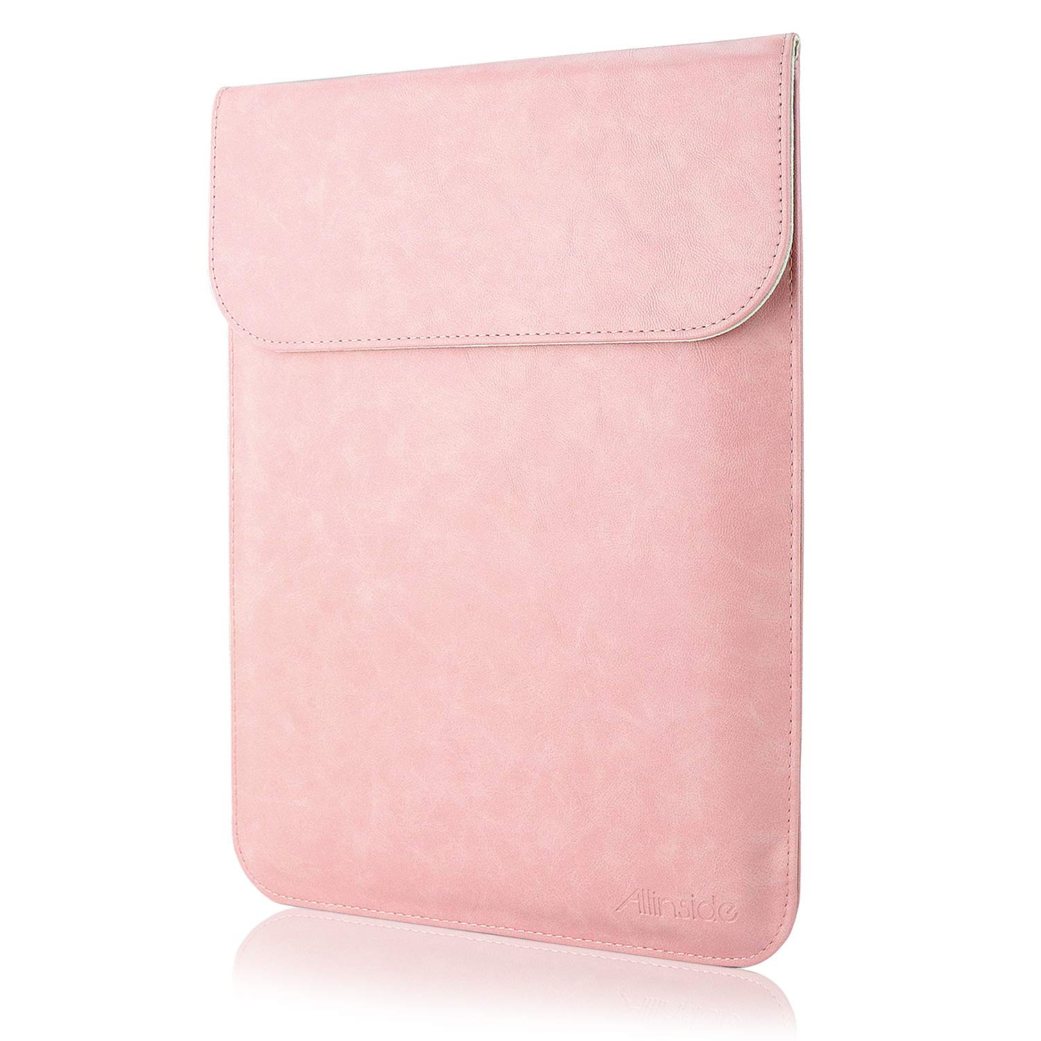 All-inside Pink Synthetic Leather Sleeve for MacBook Air 13'' Pro 13'' with/Without Retina and New MacBook Pro 13'' with/Without Touch Bar by All-inside