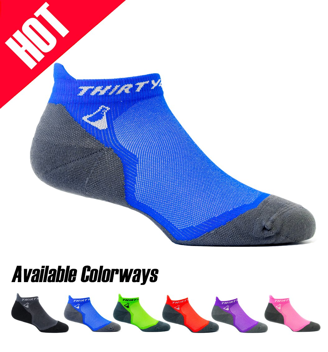 b72434065a6 Thirty 48 Ultralight Athletic Running Socks for Men and Women with Seamless  Toe