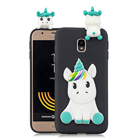 4ef719f3fb0 HopMore Funda para Samsung Galaxy J3 2017 Silicona Motivo 3D Divertidas TPU  Gel Kawaii Ultrafina Slim
