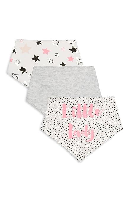 Bebé Pack de 3 baberos bandana baberos con correa ajustable