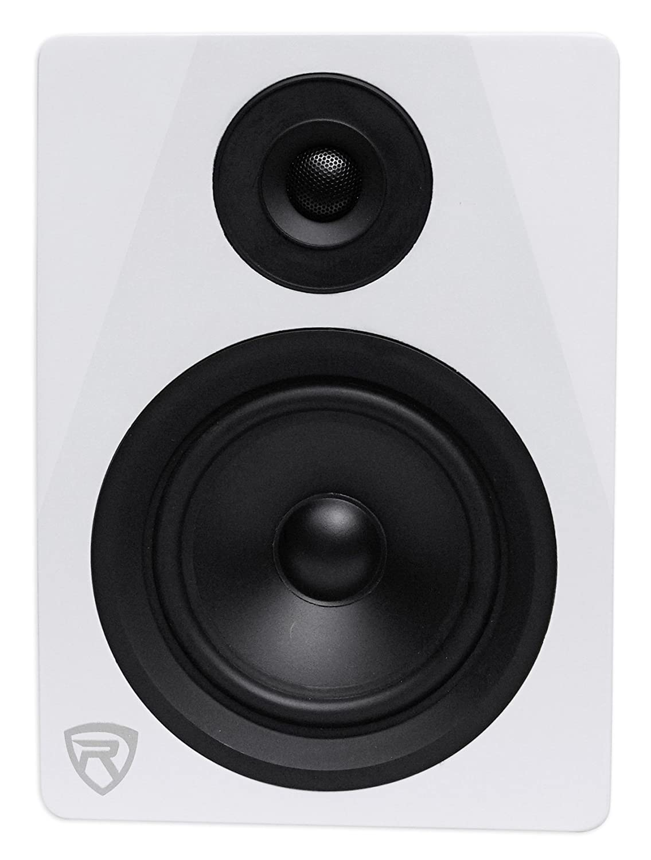 Rockville DPM8C 8 2-Way 300W Wood Active/Powered Studio Monitor Speaker
