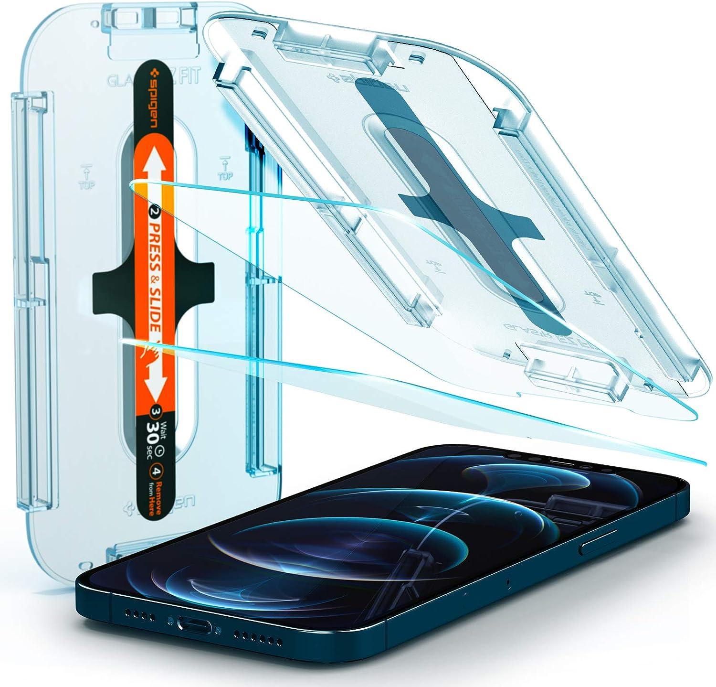 2 Vidrios Templados Para iPhone 12 Pro Max Spigen