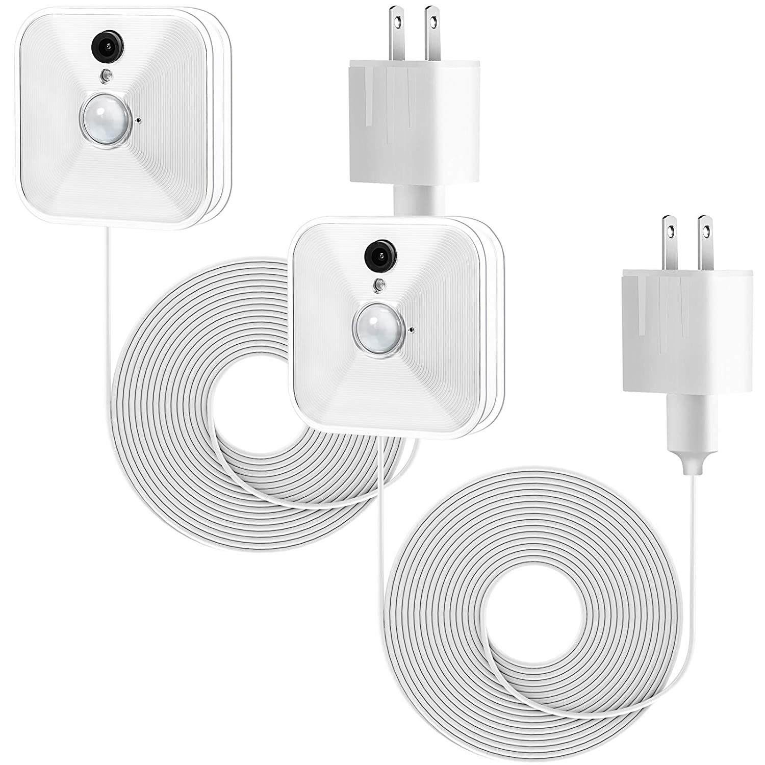 Power Adapter with 20 ft/6 m Weatherproof Cable for Blink Outdoor XT XT2/Indoor Home Security Camera, Continuously Operate Blink Security Camera, No Need to Change The Battery (2 Pack White)